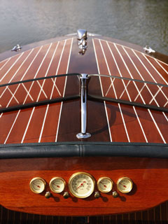wooden boat prow