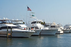 boats in an Alabama Gulf Coast marina