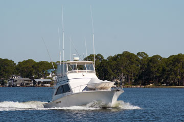 fishing boat near Mobile, Alabama