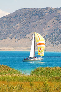 sailboat on Bear Lake, Utah