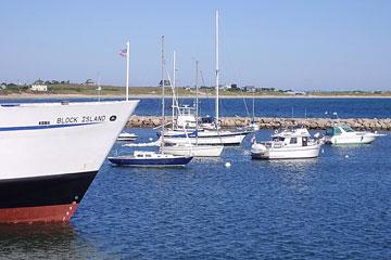 boats at Old Harbor marina, Block Island