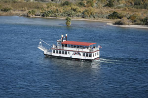 tour boat on the Colorado River between Nevada and Arizona