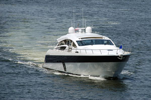 luxury yacht in Fort Lauderdale waters
