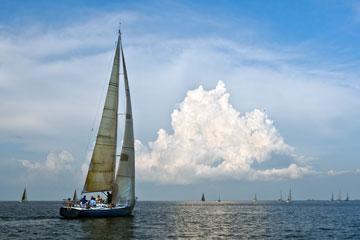 sailing in Galveston Bay
