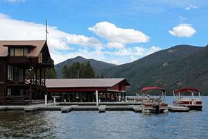 boats at a Grand Lake, Colorado marina