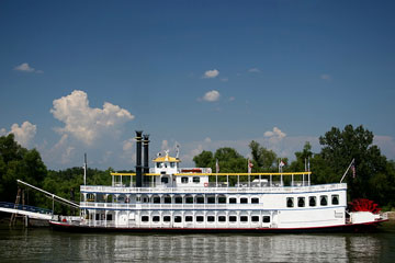 Louisiana riverboat - paddlewheel steamer