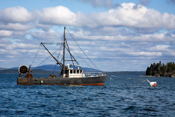 Bar Harbor lobster boat