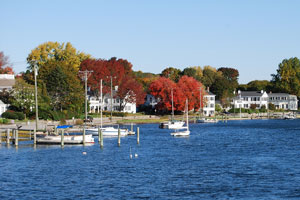 boats at Mystic Seaport, Connecticut