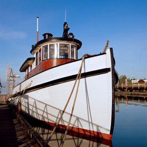 tug boat in Puget Sound, Washington