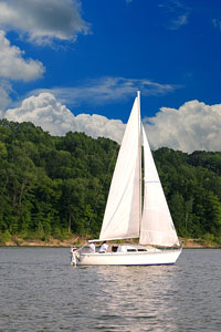 sailboat on a Kentucky lake