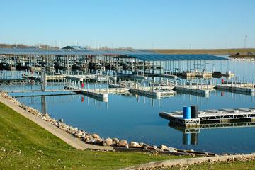 marina on Lewis & Clark Lake near Yankton, South Dakota